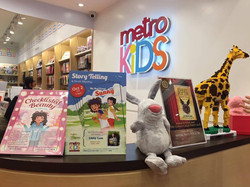 Libby's books displayed at bookstore