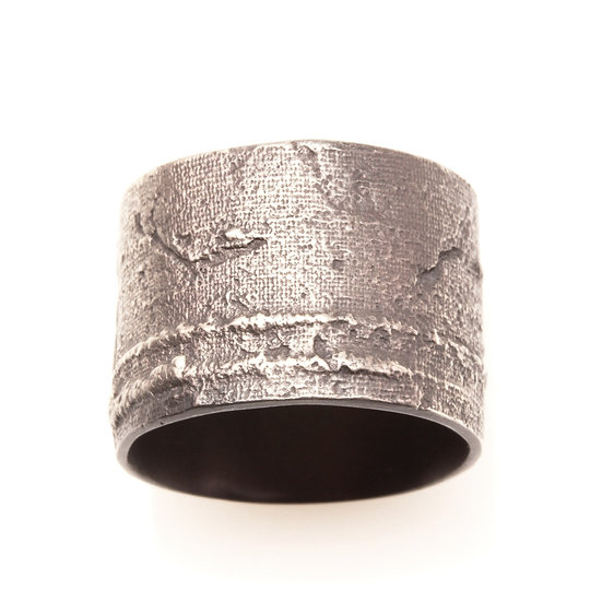 MAYA KINI OXIDIZED WIDE BAND RING SILVER