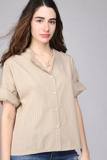 Nicholson & Nicholson Lotus Shirt Yellow Stripe