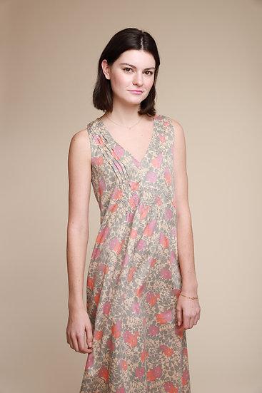 ACOTE LONG FLORAL DRESS