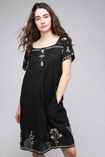 COTELAC EMBROIDERED DRESS