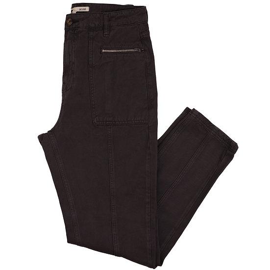 Acote Crop Zipper Pocket Pant