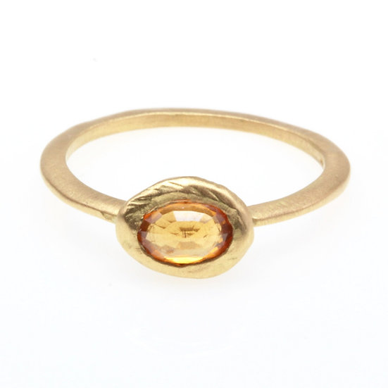 PAGE SARGISSON 18K GOLD SAPPHIRE RING