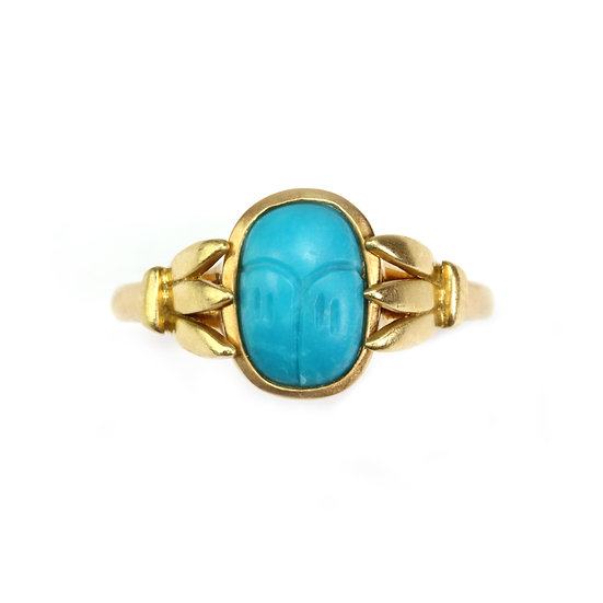 18K Gold Scarab Ring