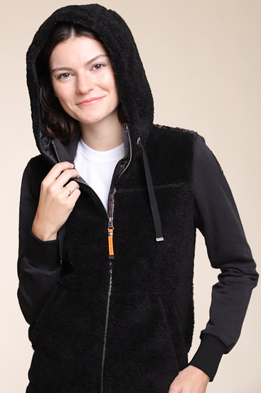 PARAJUMPERS MOGEI ZIP JACKET BLACK