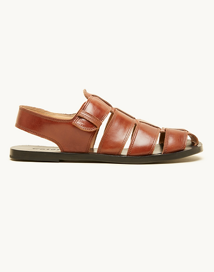 COTELAC BROWN LEATHER SANDAL