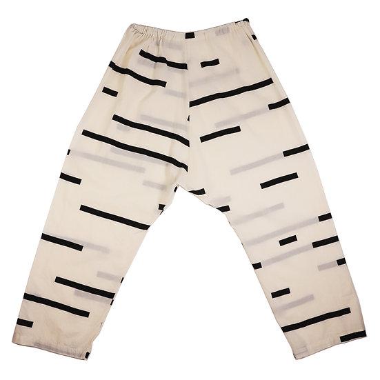 UZI Cotton Crop Pant Broken Cream