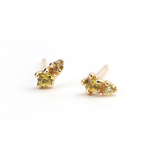 N&A Double Yellow Sapphire Earrings