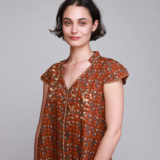 COTELAC CACAO BLOUSE