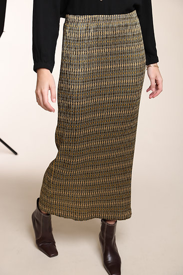 COTELAC MICRO PLEATED PRINT SKIRT