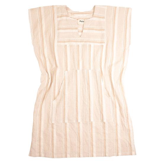 Sayulita Tunic - Sand Souk Stripe