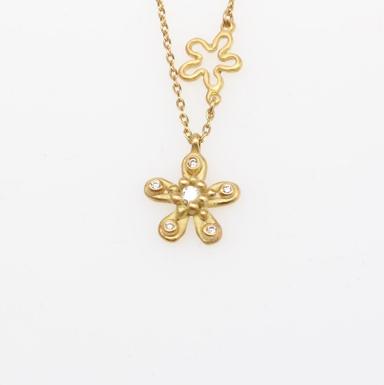 Marian Maurer Double Flower necklace
