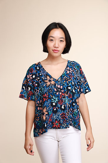 ACOTE ABSTRACT FLOWER PINT TOP