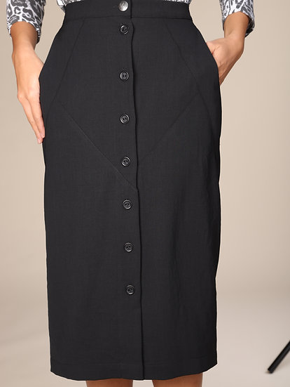 COTELAC SEAMED BUTTON FRONT SKIRT