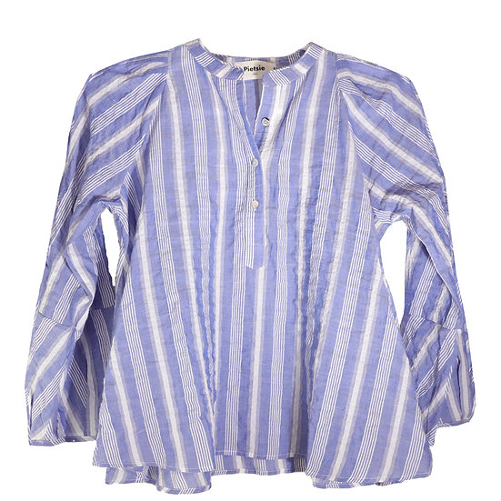Pietsie Atlin Blouse Blue& White Stripe