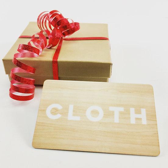 Cloth Gift Card