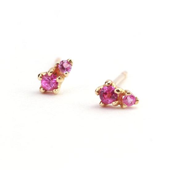 N&A Double Pink Sapphire Earrings
