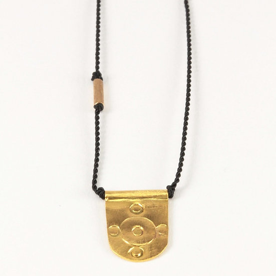RIVER SONG 14K GOLD TALISMAN NECKLACE