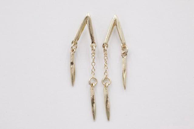 K/ller Collection Double Drop earrings