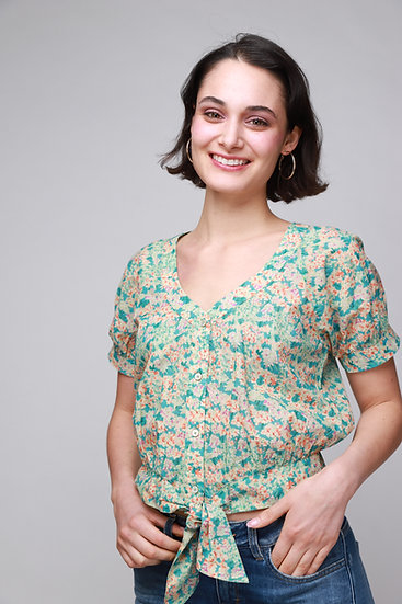 Cotelac Cotton Floral Top