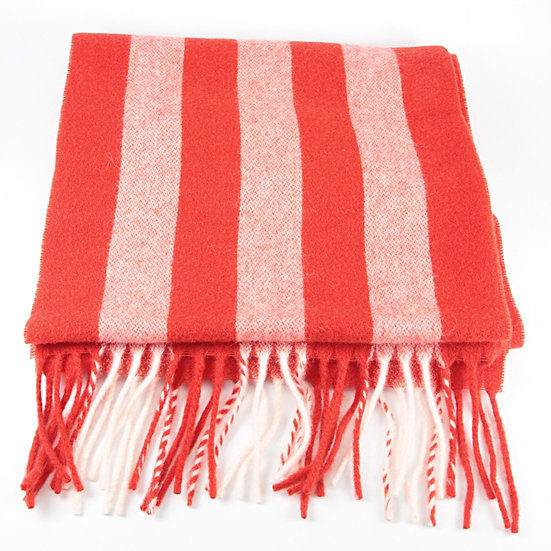 HOPE LONG SCARF RED STRIPE