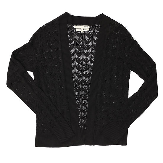 acote black lace cardigan