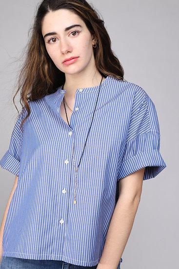 Nicholson & Nicholson Lotus Shirt Blue Stripe