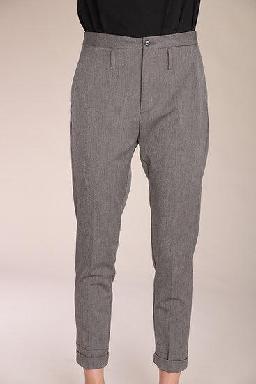 Hop Law Trouser Khaki Grey Stripe