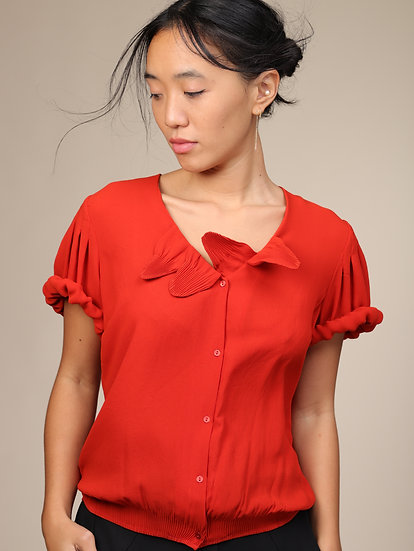 COTELAC PETAL BLOUSE RED