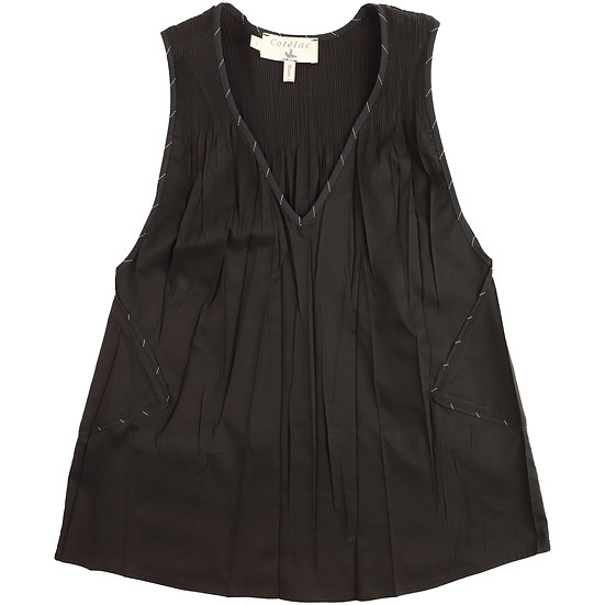 Cotelac Piped Sleeveless Tank