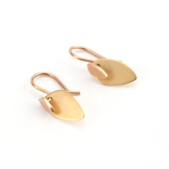 MARION CAGE TOTEM TAG EARRINGS
