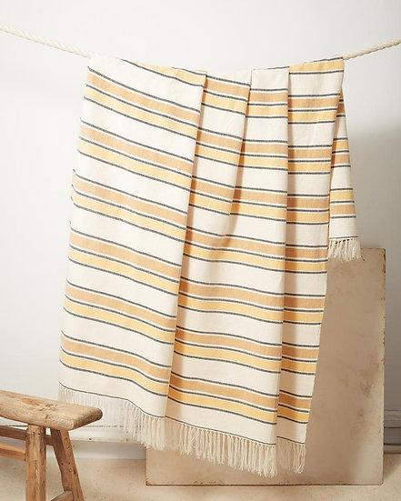 Minna Gold Stripe Throw