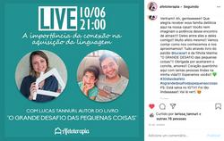 Chamada Live Afetoterapia