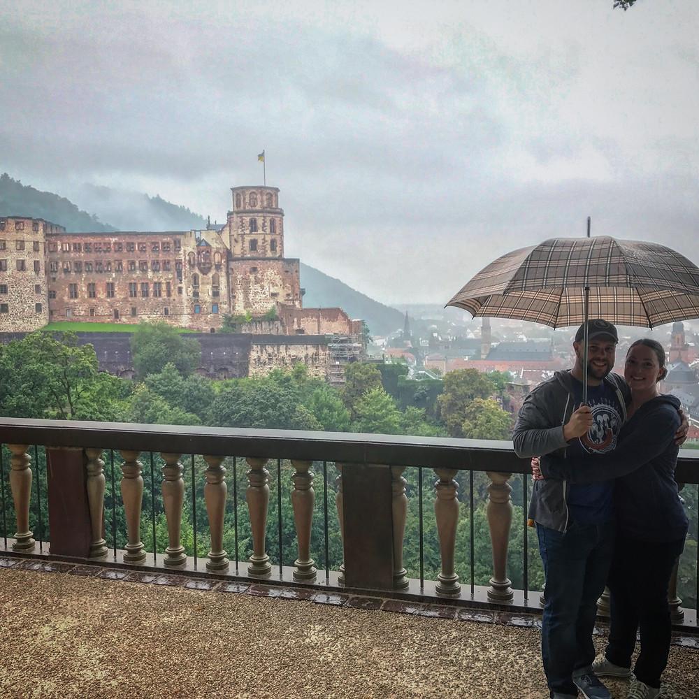 Mark & Katie Costa at Heidelberg Castle