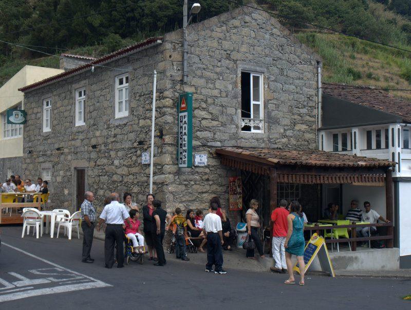 Cafe Faialense in Faial Da Terra where the locals meet for drinks.