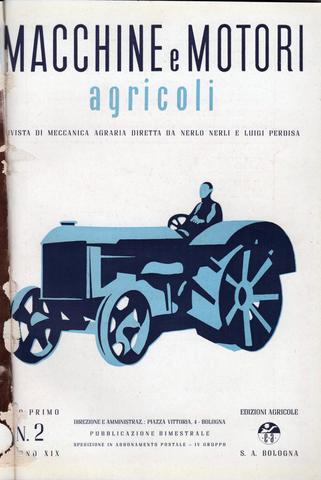 LE TRATTRICI AGRICOLE ITALIANE ALLA FINE DEGLI ANNI TRENTA DEL XX SECOLO