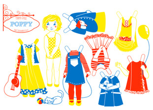Screenprinted Paper Dolls