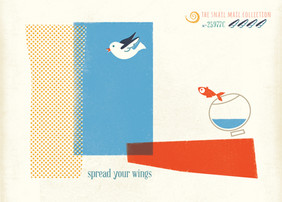 Spread your wing Retro Card ~Snail Mail Collection