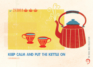 Retro Postcard Invitation ~ Put the Kettle On ~ Snail Mail Collection