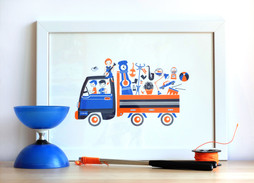 Screenprinted poster ~ Musician friends on the Road