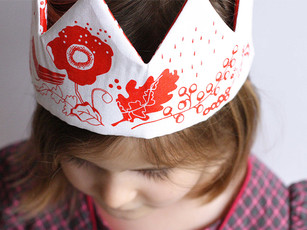 Screenprinted Fabric Crown