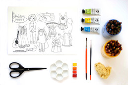 Downloadable file ~ Paper Doll to cut out and play with