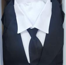 男裝西式壽衣(黑色)