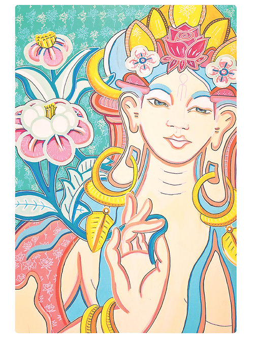 Lady Of The Flowers A4 Print