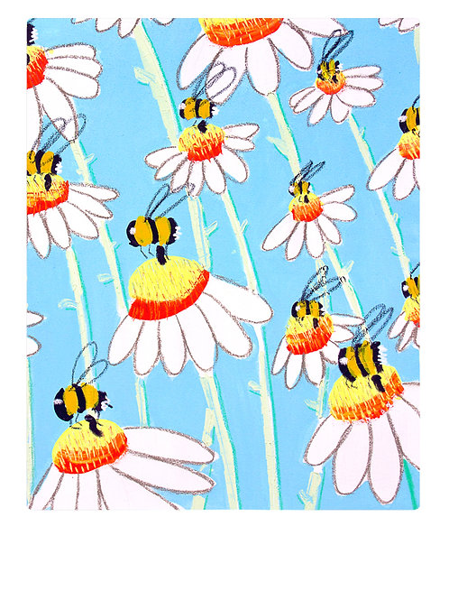 Bees A4 Print