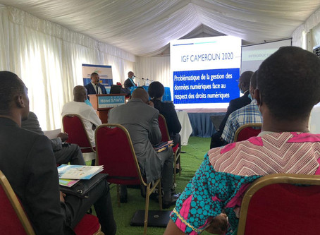 Data Governance (1/2) - IGF 2020 Cameroon