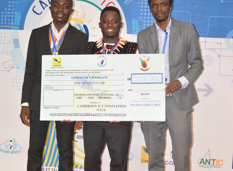 Open Dreams Scholar Agha Bill Njoh and his team win second price at the ICT Innovation week 2020