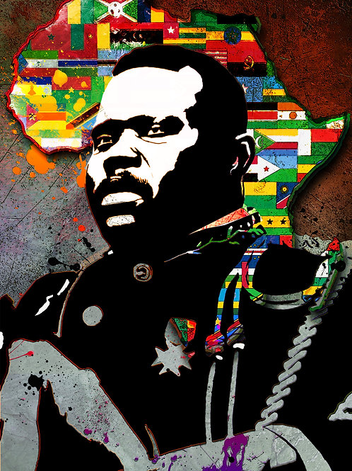 Marcus Garvey A3 Mounted Print