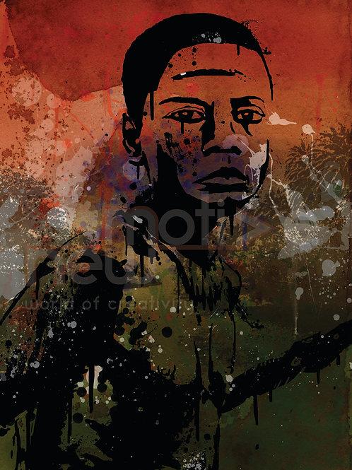 Jarawa Boy (Digital Design on A3)