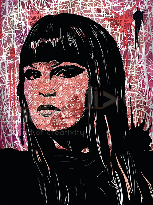 Jessie J - Mixed Media (Mounted Print) A3